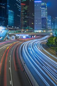 Verkehr in der innenstadt von hong kong