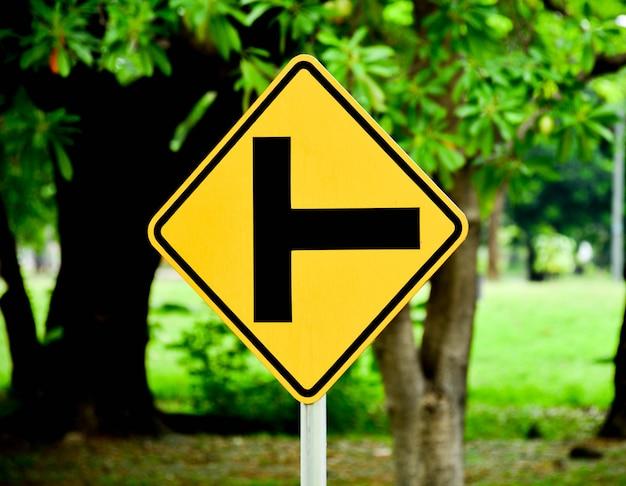 Verkehrszeichen - drei getrennt