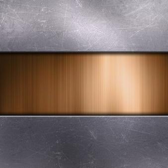 Verkratztes metallic mit goldmetall