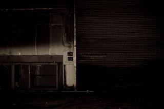 Verlassenen lagerhaus, dunkel