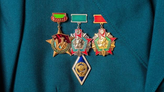 Verleihung medaillen der sowjetischen armee