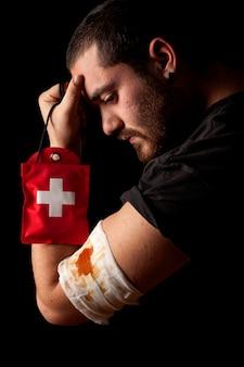 Verletzter mann