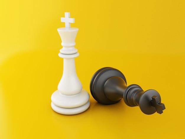 Verlorene schachfigur 3d, fallendes schach.