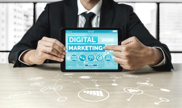 Vermarktung des geschäftskonzepts der digitalen technologie