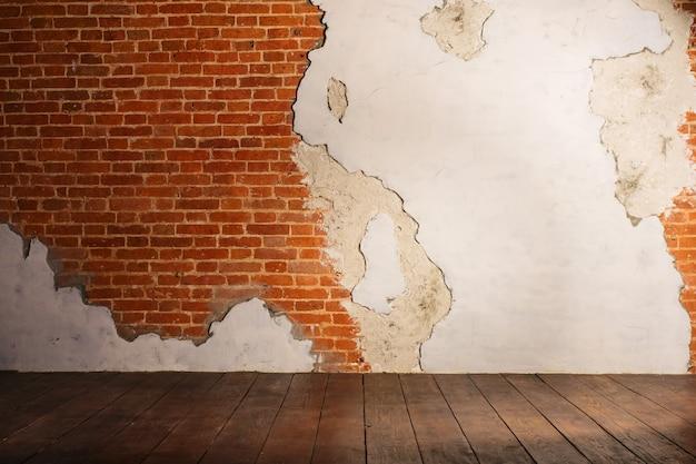 Verputzte ziegelmauer