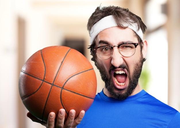 Verrückten sport man.funny ausdruck