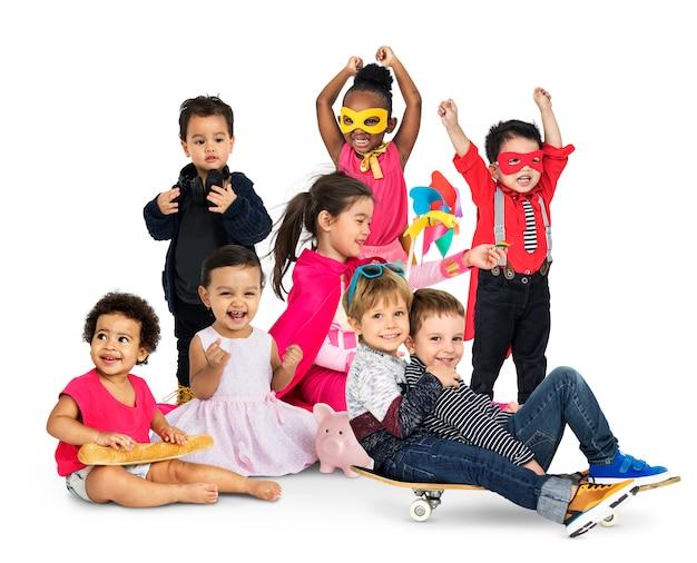 Verschieden vom jungen kinderleute-studio lokalisiert