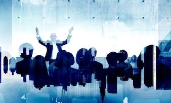 Verschiedenartigkeits-Leute-Seminar, das Stadtbild-Konzept lernt