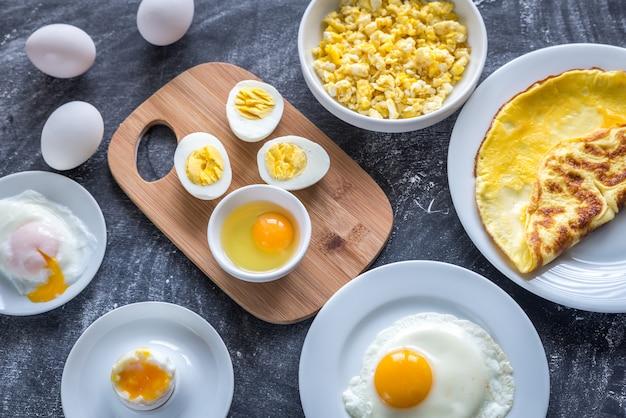 Verschiedene arten, eier zu kochen