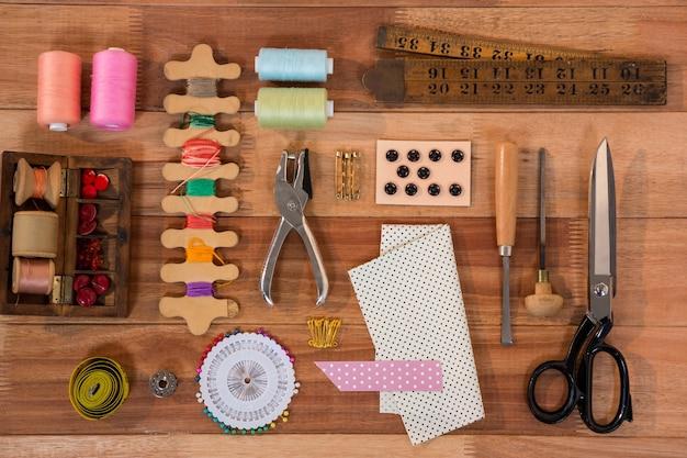Verschiedene arten von nähwerkzeugen