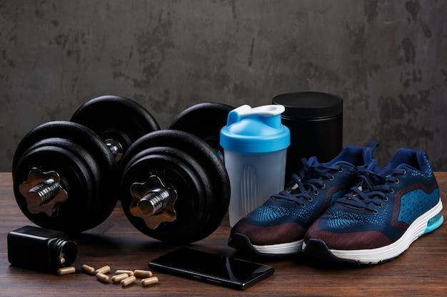Verschiedene artikel für die fitness