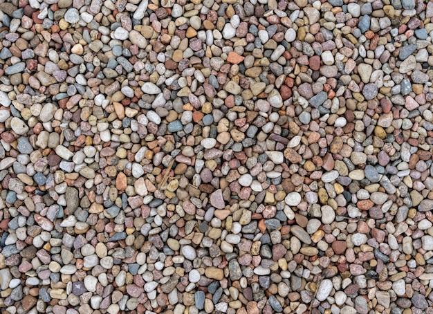 Verschiedene bunte kieselsteine vom strand