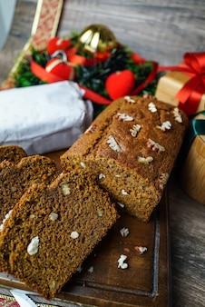Verschiedene desserts und kuchen aus der nördlichen region perus sehr häufig zu weihnachten