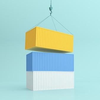 Verschiedene farben des stapelbehälters.