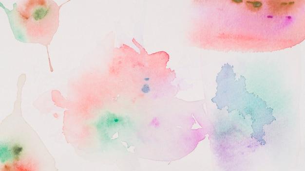 Verschiedene flecken von aquarell