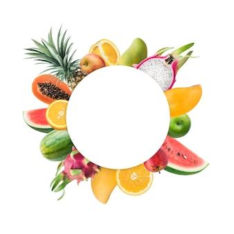 Verschiedene früchte als sommerfruchtkonzeptideen