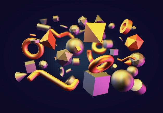 Verschiedene geometrische formen