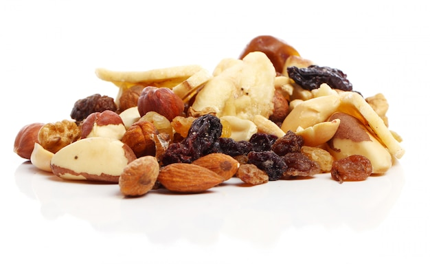 Verschiedene getrocknete früchte