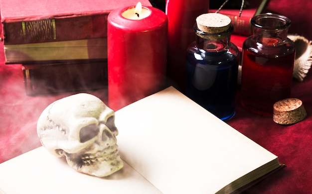 Verschiedene halloween-dekorationen