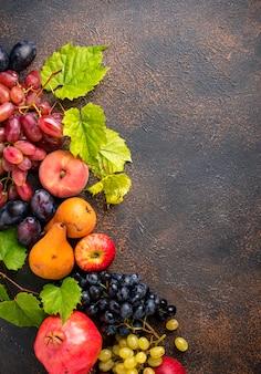 Verschiedene herbstfrüchte