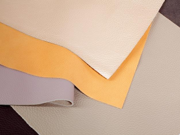 Verschiedene pastellfarben naturleder texturen muster
