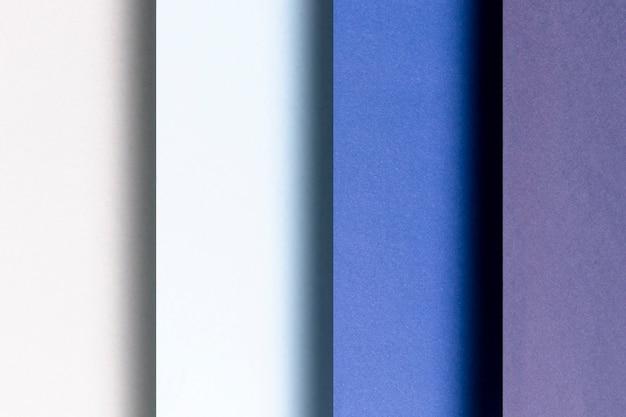 Verschiedene schattierungen von blauen mustern