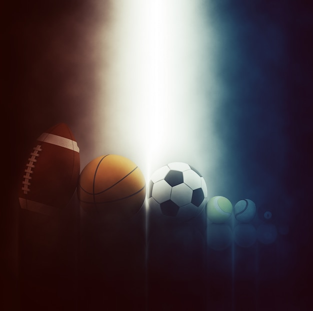 Verschiedene sportbälle