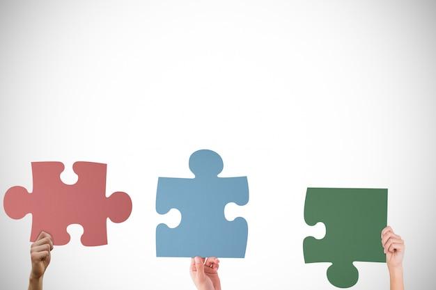 Verschiedene stücke des gleichen puzzles