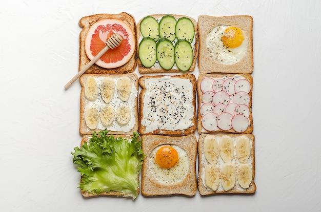 Verschiedene toasts