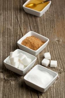 Verschiedene von zucker