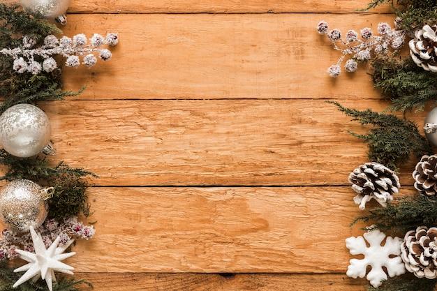 Verschiedene weihnachtsdekorationen