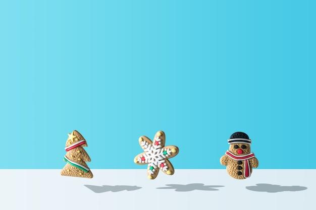 Verschiedene weihnachtsplätzchendekoration