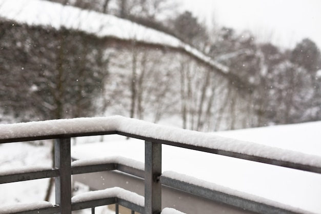Verschneiter winter