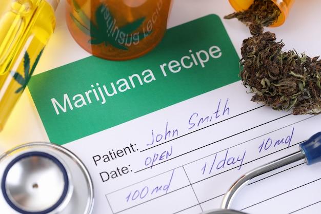 Verschreibender arzt für marihuana-gebrauch durch den patienten