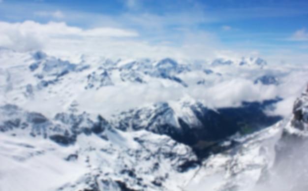 Verschwommene eisberg, schweiz