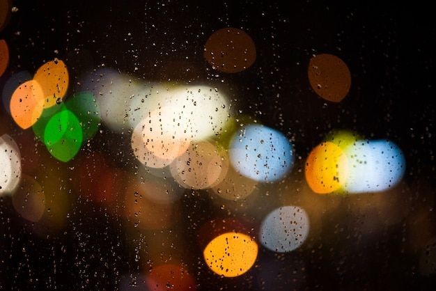 Verschwommene nachtlichter der stadt