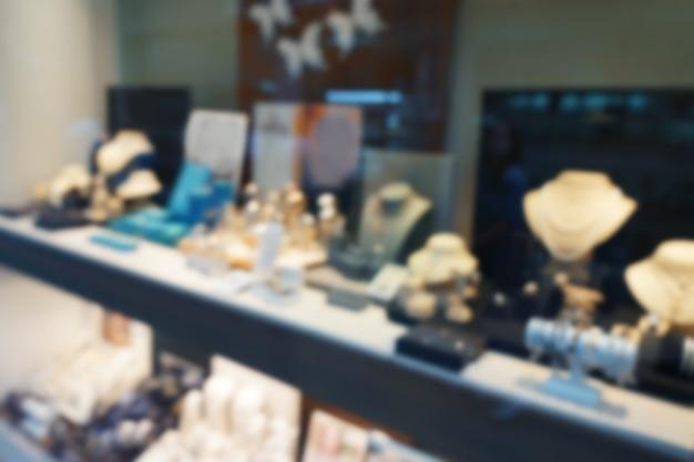 Verschwommene szene im juweliergeschäft