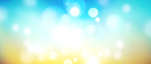 Verschwommener himmel und sonnenlicht mit kopierraum