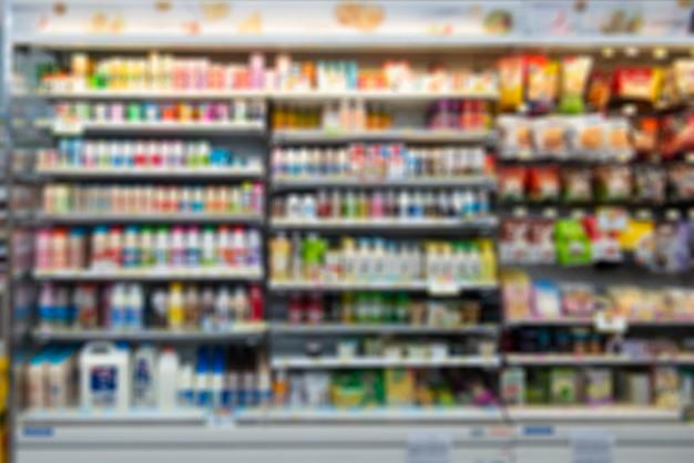 Verschwommener supermarkt