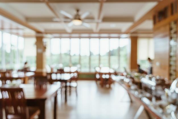 Verschwommenes buffetrestaurant im hotelresort