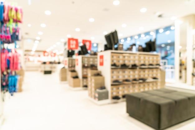 Verschwommenes einkaufszentrum und einzelhandelsgeschäft