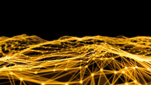 Verschwommenes globales digitales netzwerk