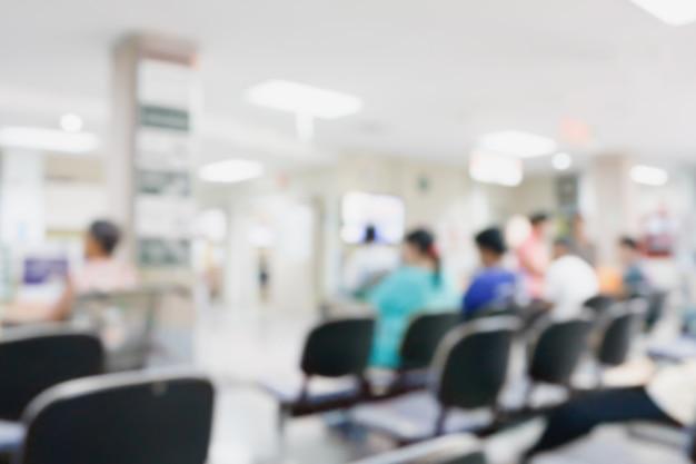 Verschwommenes krankenzimmer
