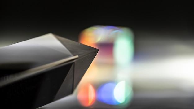 Verschwommenes prisma beleuchtet draufsicht