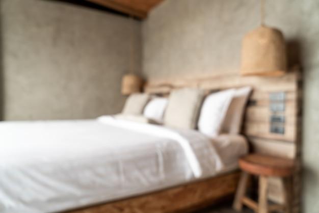 Verschwommenes schlafzimmer innendekoration
