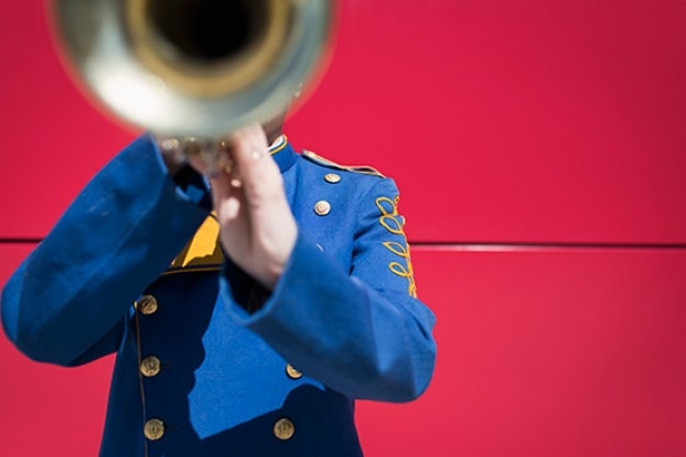 Verschwommenes trompete