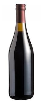 Versiegelte, verkorkte, unbeschriftete flasche rotwein