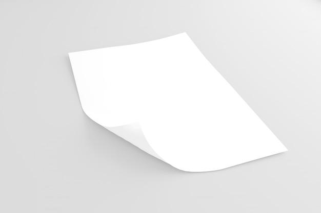 Verspotten sie oben von einem blatt papier lokalisiert