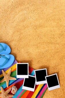 Vertikal strand foto