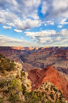 Vertikale ansicht des grand canyon, usa.